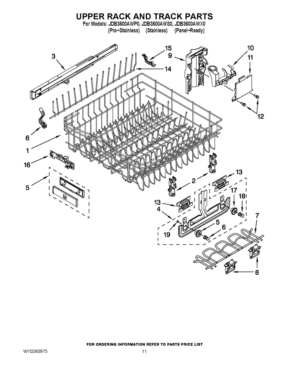 Diagram for JDB3600AWX0
