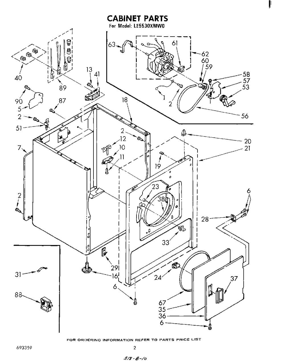 Diagram for LE5530XMW0