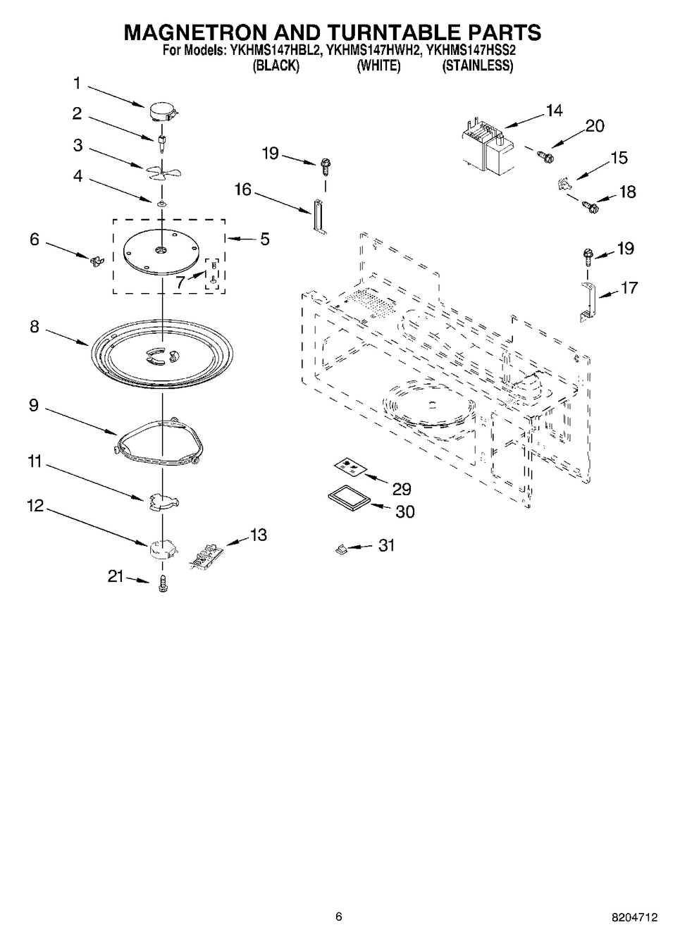 Diagram for YKHMS147HWH2
