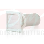 Dryer Vent Hood Louvered White