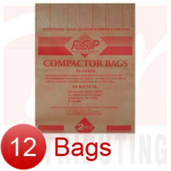 "675186 - 15"" Paper Trash Compactor Bags (12 Pk) by Whirlpool"