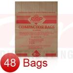 "15"" Paper Trash Compactor Bags (48 Pk)"