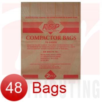 "882652 - 15"" Paper Trash Compactor Bags (48 Pk)"