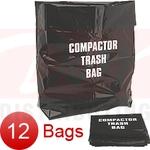 Broan Trash Compactor Bags 93620008 - Plastic - 12 Pk