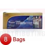 "15"" Plastic Trash Compactor Bags - Odor Absorbing 8 Pk"