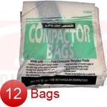 """GE 12 Pk Trash Compactor Bags - 15"""" Plastic"""