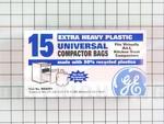"""GE 15 Pk of 15"""" Plastic Trash Compactor Bags"""