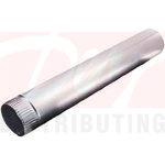 "Deflect-o 24"" Galvanized Aluminum Pipe"