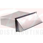 Deflecto Aluminum Wallcap With Vent Damper