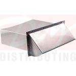 Deflecto Aluminum Wallcap With Vent Damper