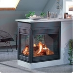 Continental Direct Vent Gas Peninsula Fireplace