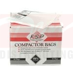 "15"" White Plastic Compactor Bags - 60 Count"