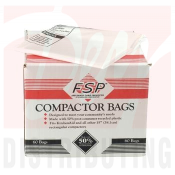 "W10165294RB - 15"" Plastic Trash Compactor Bags (60 Pk)"