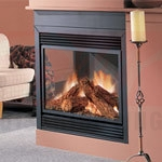 Continental Corner Left View Natural Vent Gas Fireplace