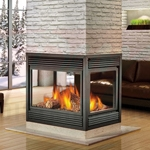 Continental Island Natural Vent Gas Fireplace