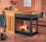 Continental BGD40N3 30,000 BTU Peninsula Direct Vent Natural Gas Fireplace