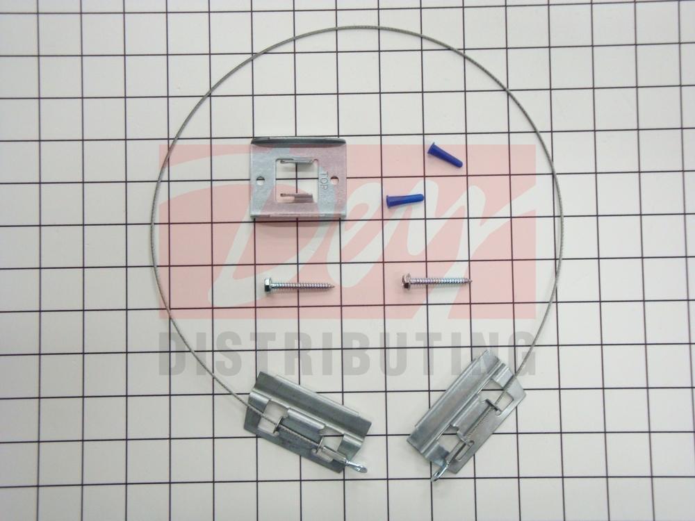 Black Whirlpool 8273888A Range Anti-Tip Kit