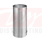 """M&G DuraVent 1648SS 6"""" x 48"""" Single Wall Stainless Steel Stove Pipe Straight Length from the DuraBlack Series"""