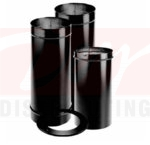 """M&G DuraVent 1692 6"""" Single Wall Stove Pipe Kit - Includes Slip Connecotr, 2 24"""" Pipe Lengths and Trim Collar"""