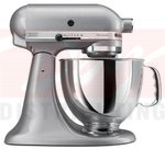 KitchenAid Artisan 5 Quart Stand Mixer - Silver Metalic