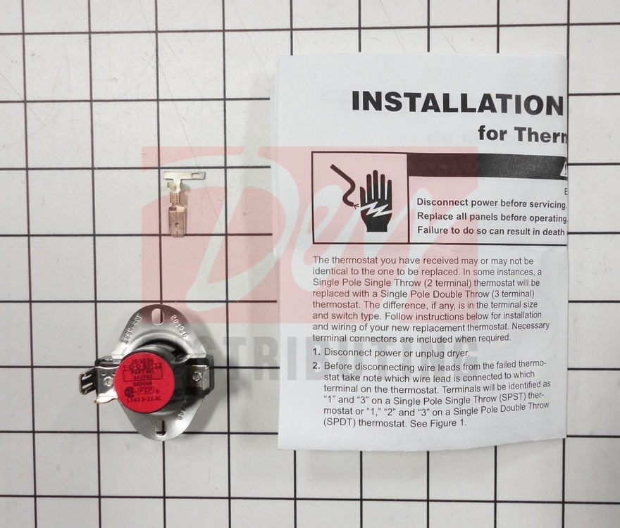 279054 Whirlpool Dryer 3 Wire High Limit Thermostat
