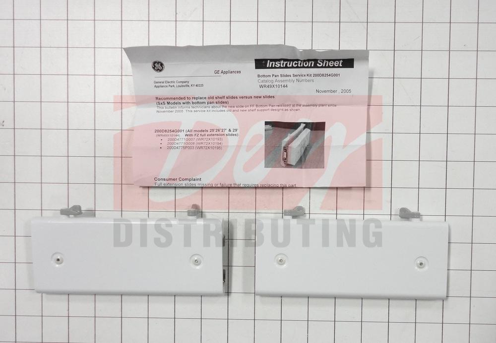 WR49X10144 - GE Refrigerator Drawer Slide Rail | Dey Appliance Parts